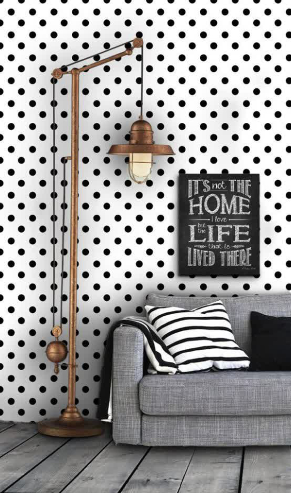 Black And White Interior Wallpaper