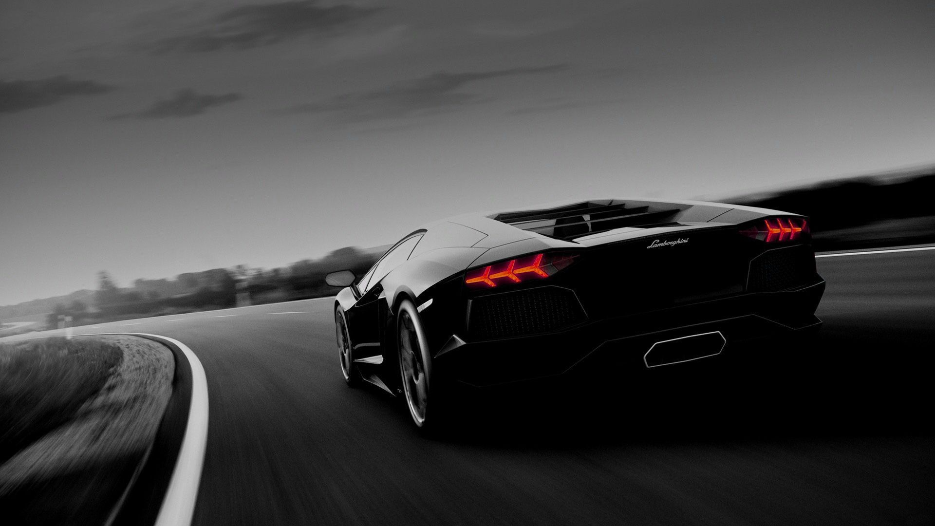 Black And White Lamborghini Wallpaper