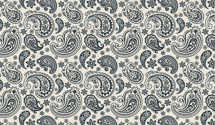 Black And White Paisley Wallpaper