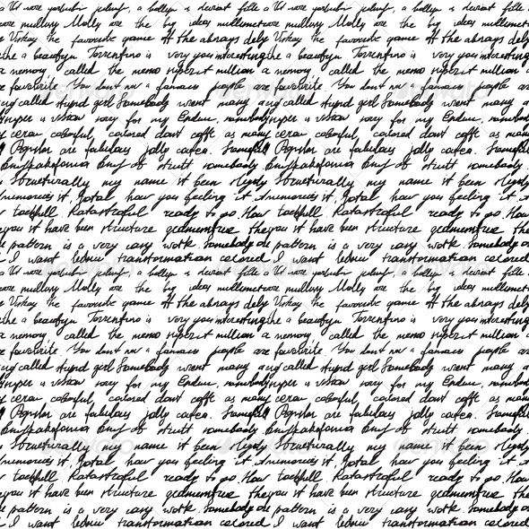 Black And White Script Wallpaper