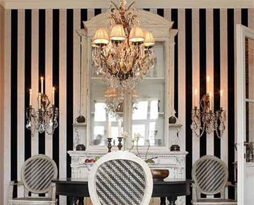 Black And White Wallpaper Decor