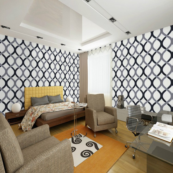 Download Black And White Wallpaper Living Room Gallery