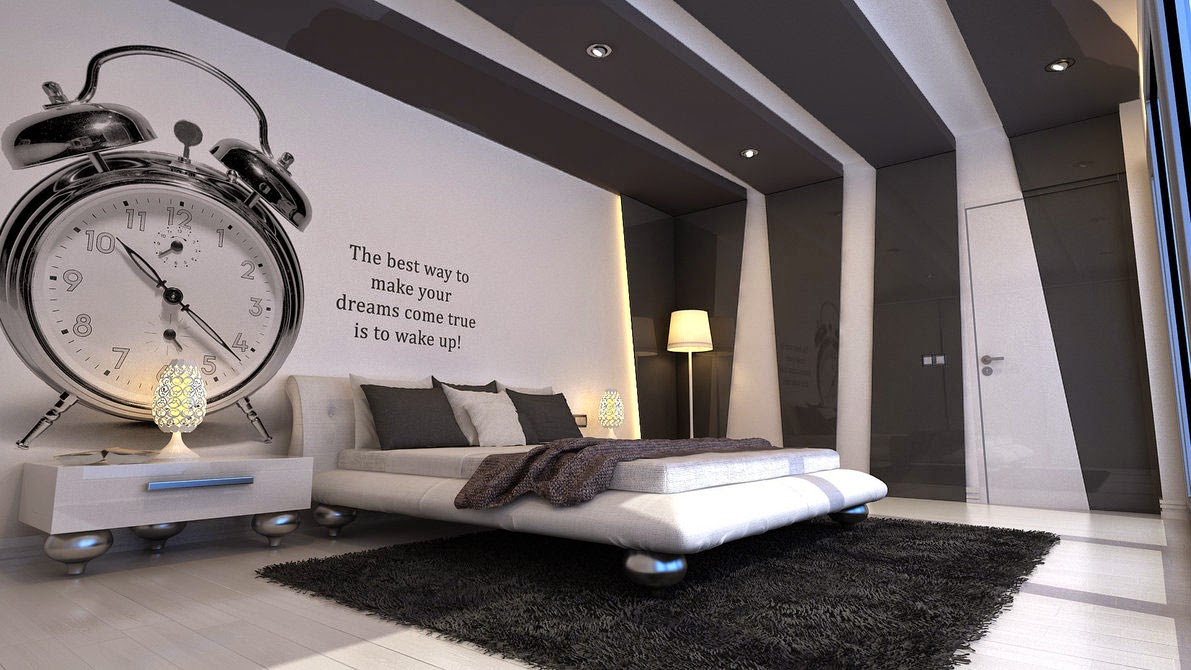 Black And White Wallpaper Room