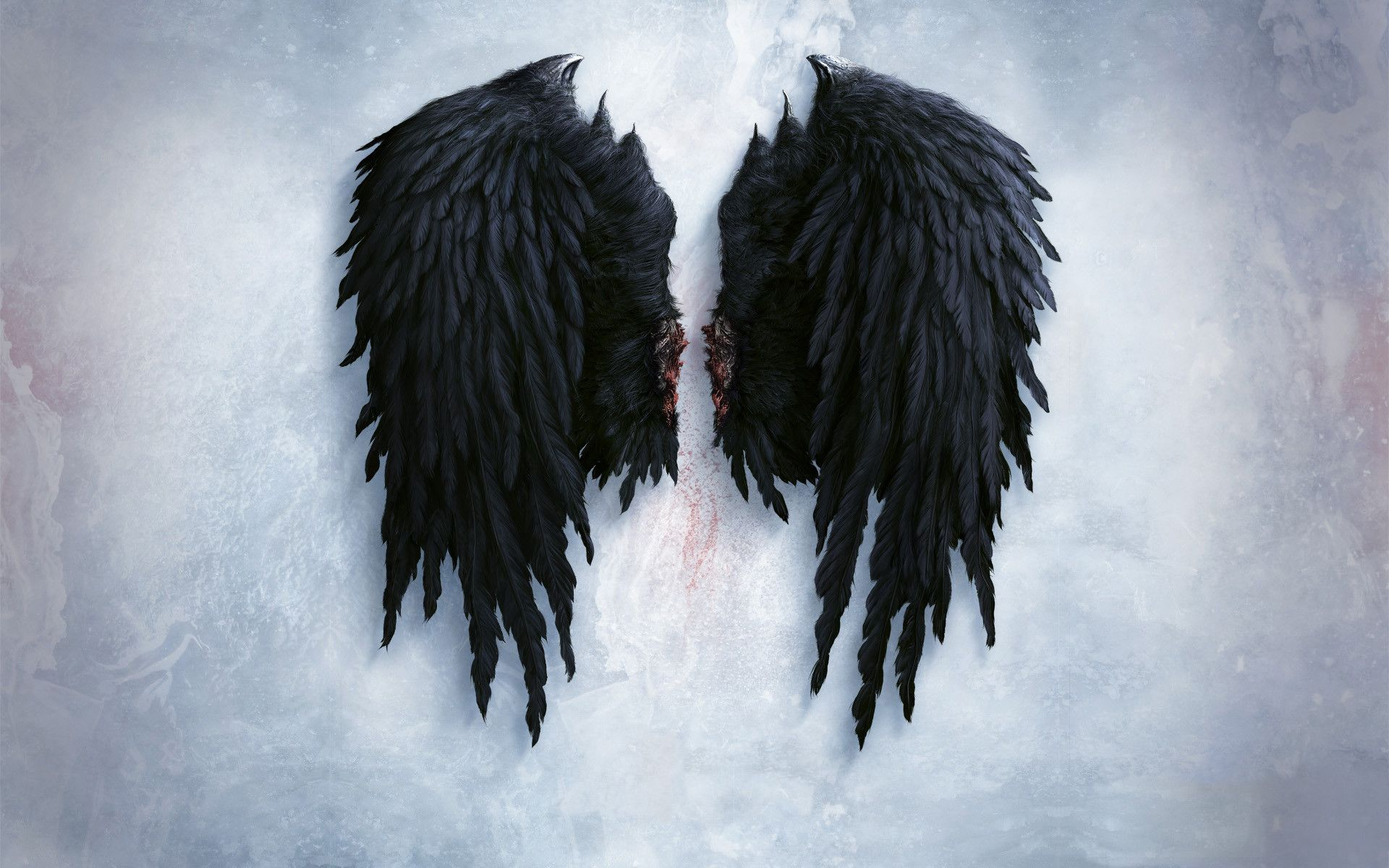 Black Angel Wings Wallpaper