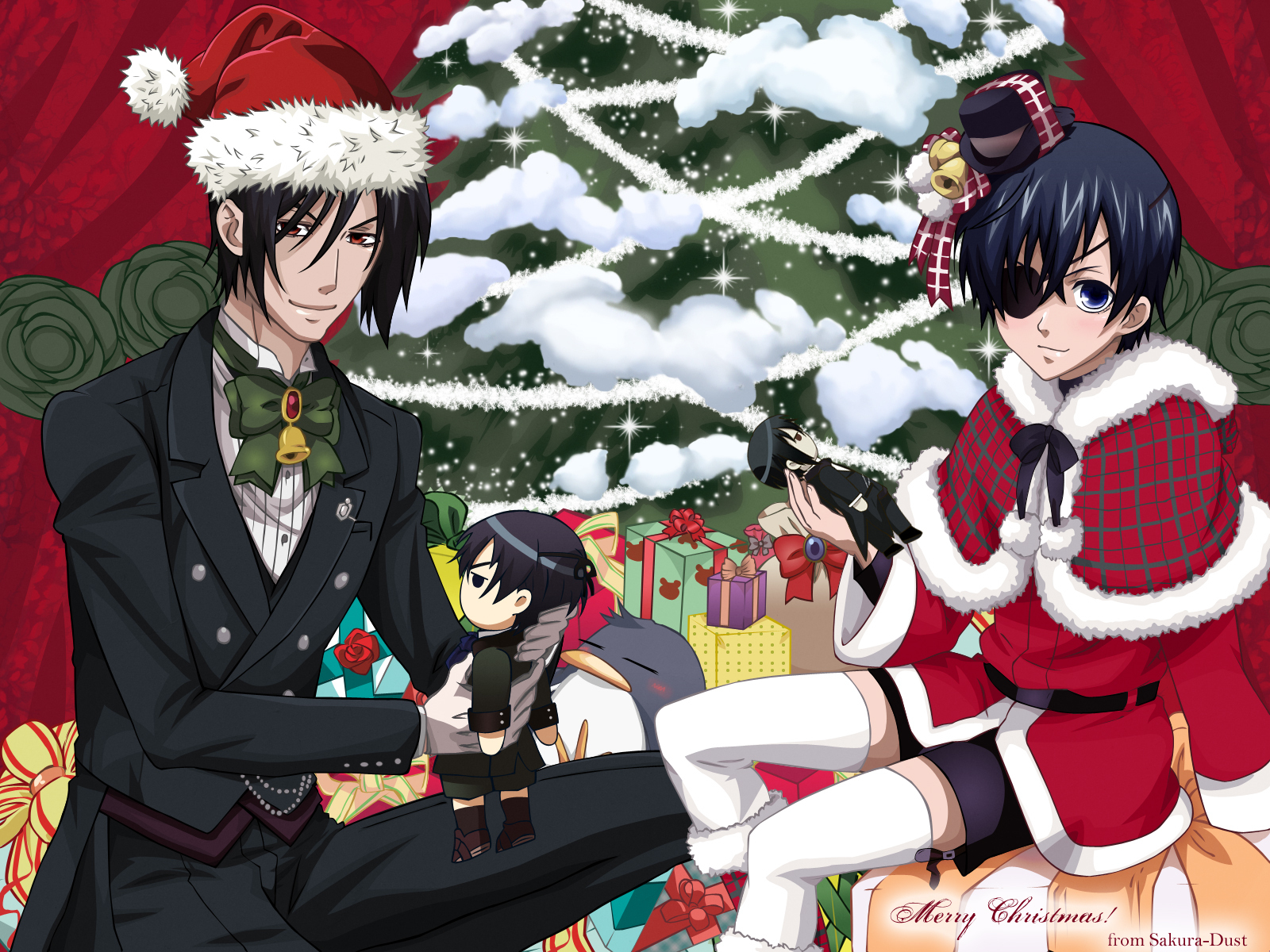 Black Butler Christmas Wallpaper