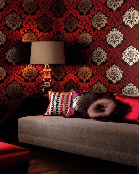 Black Cream And Red Wallpaper