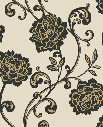 Download black cream gold wallpaper gallery for Black and cream wallpaper
