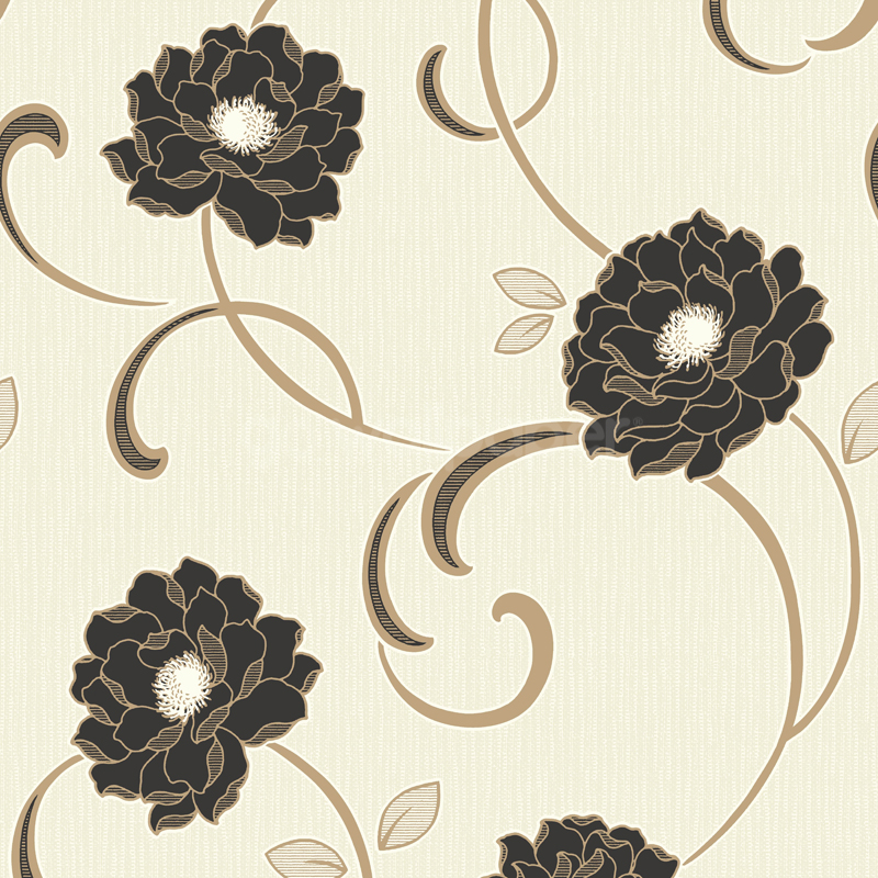 Black Cream Gold Wallpaper