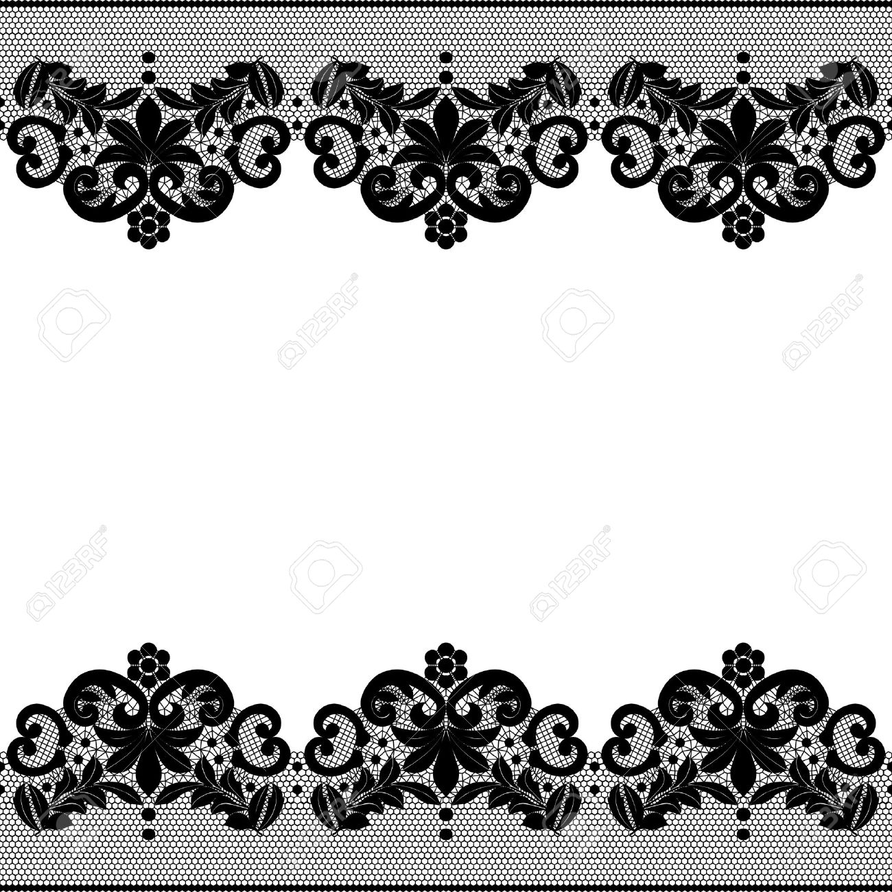 Black Lace Wallpaper Border