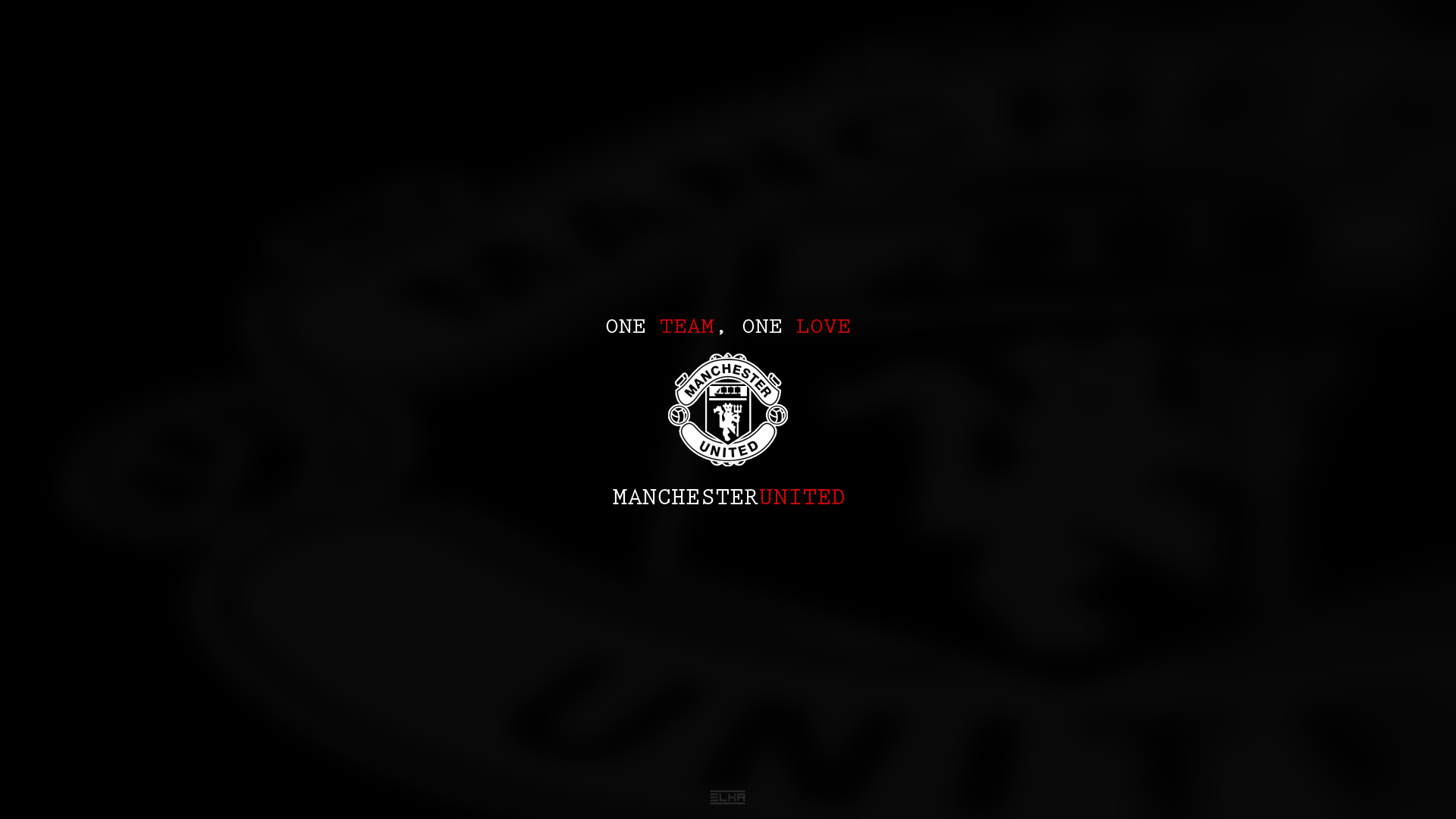 Black Manchester United Wallpaper