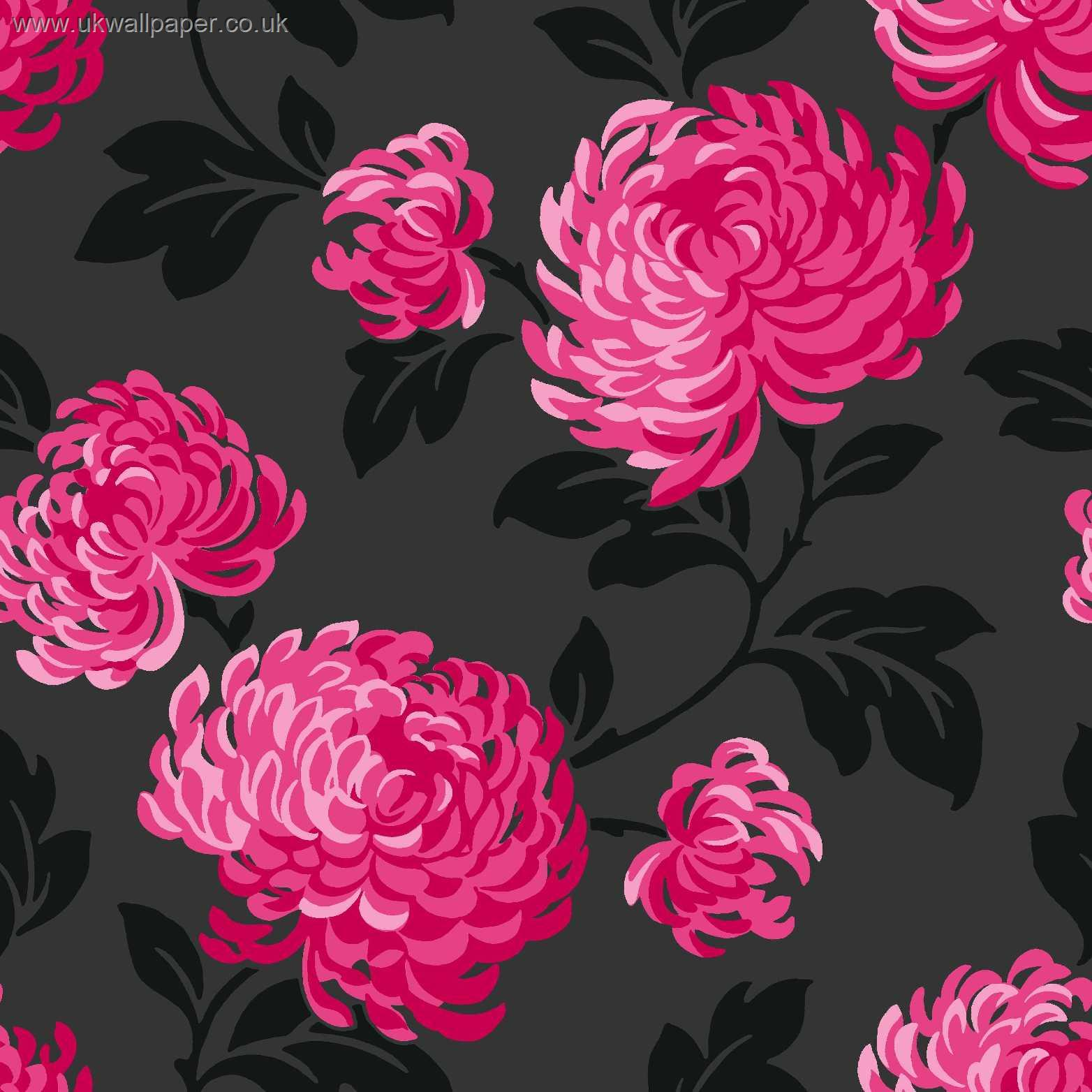 Black Pink And Silver Wallpaper