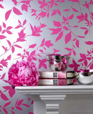 Black Silver And Pink Wallpaper