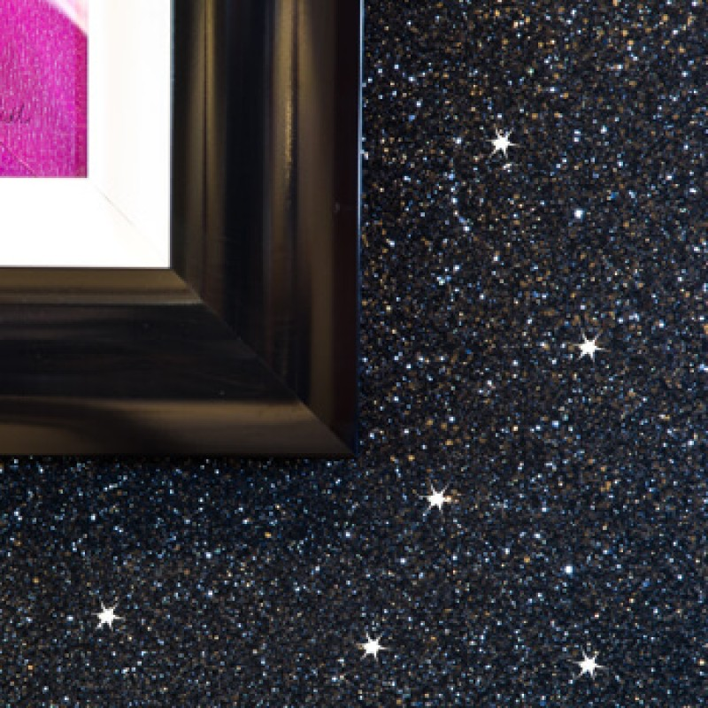 Black Silver Glitter Wallpaper