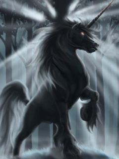 Black Unicorn Wallpaper