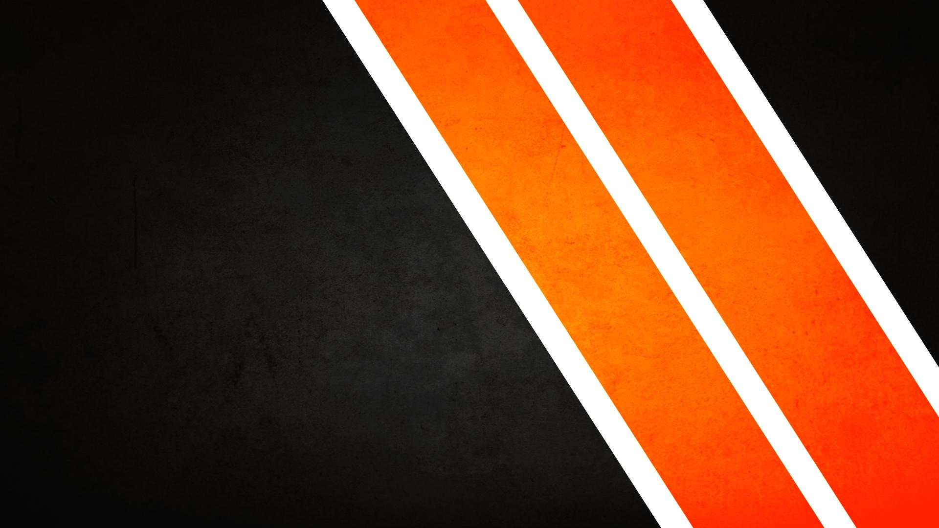 Black White And Orange Wallpaper