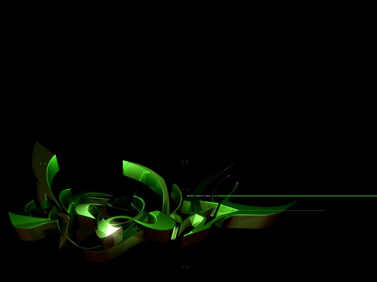 Black White Green Wallpaper