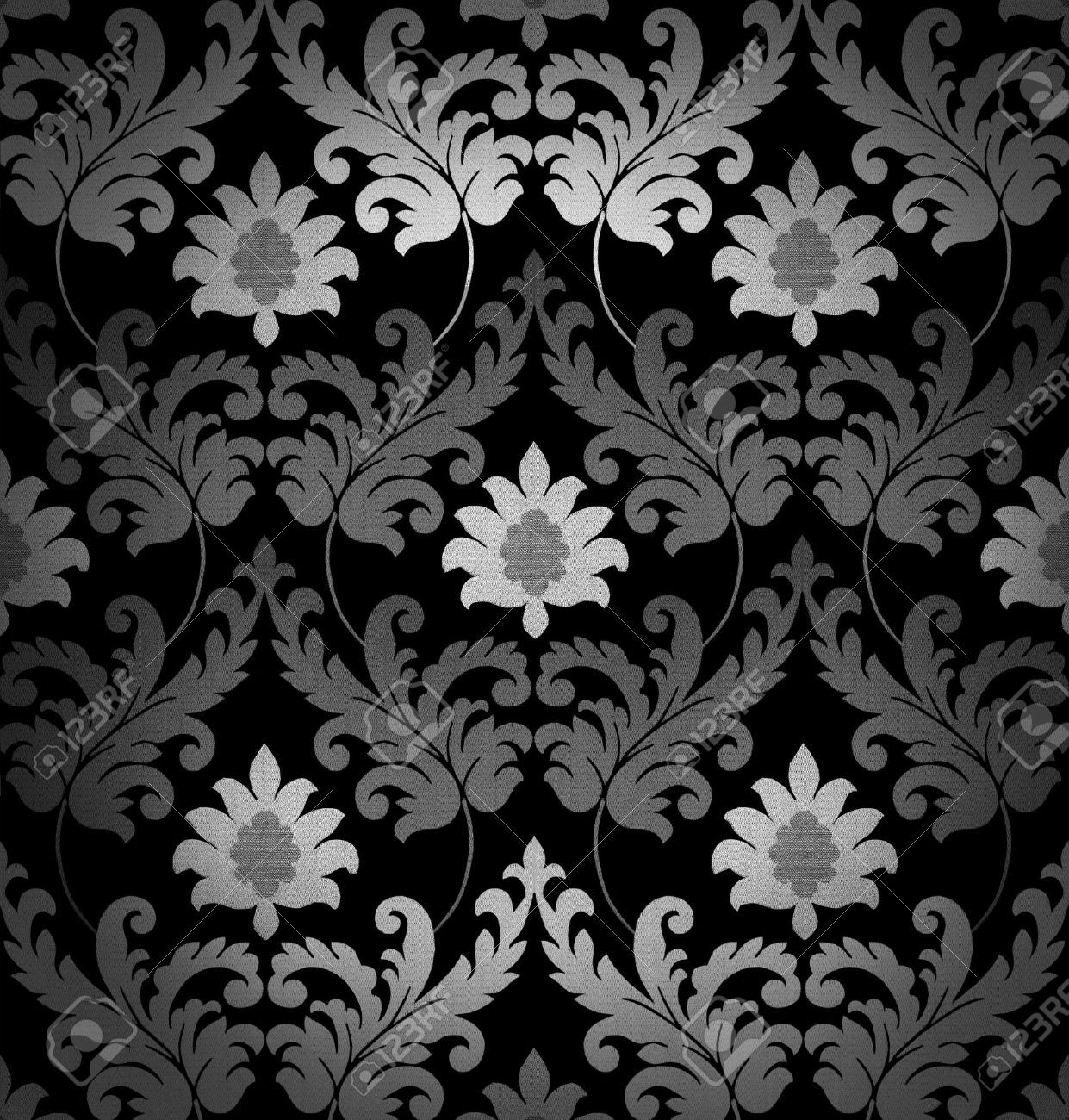 Black White Retro Wallpaper