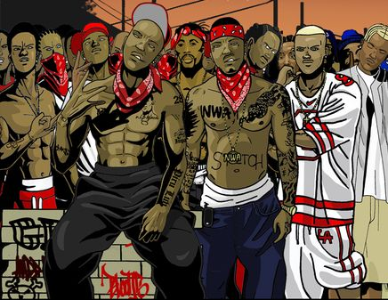 Download bloods and crips wallpaper gallery - Blood gang cartoon ...