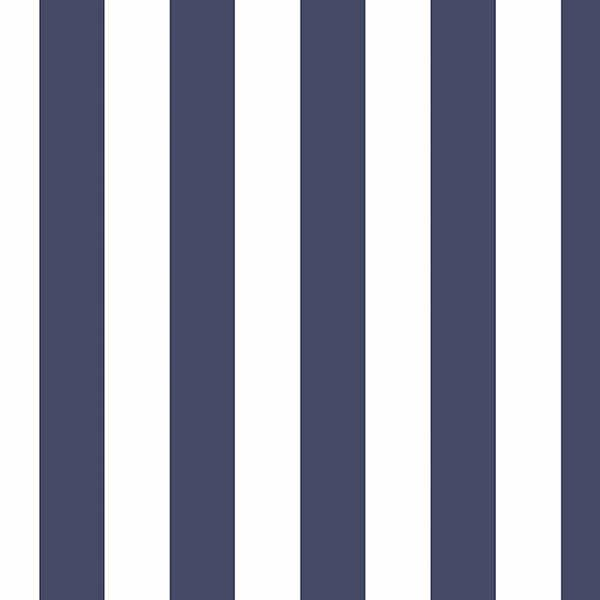 Blue &Amp; White Striped Wallpaper