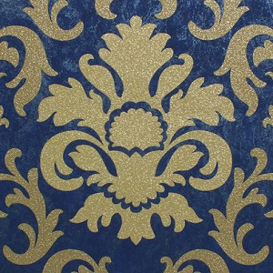 Blue And Gold Wallpaper Uk