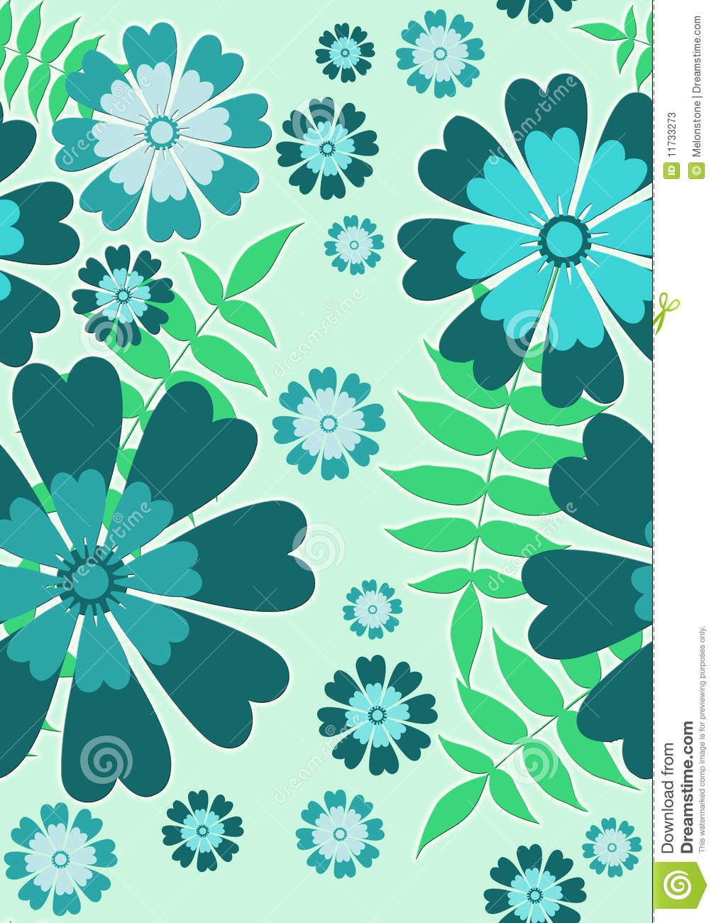 Blue And Green Dining Room: Download Blue And Green Floral Wallpaper Gallery