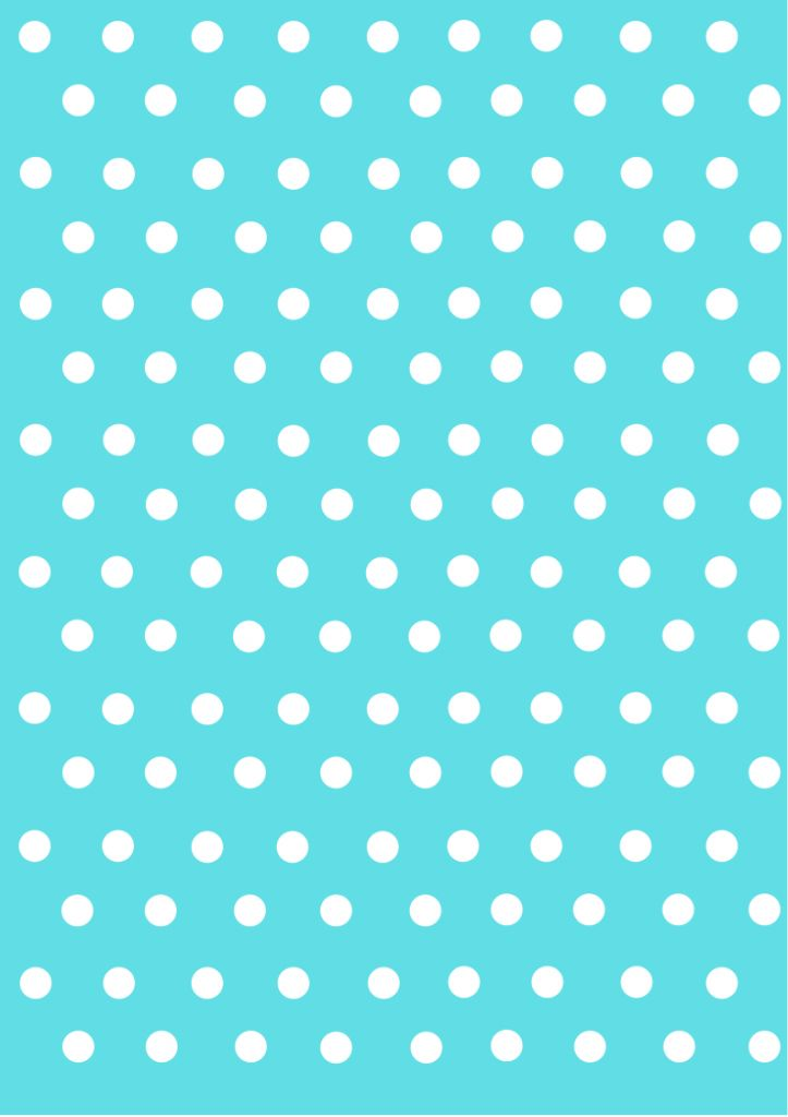 Blue And White Spotty Wallpaper