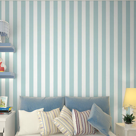 Blue And White Striped Wallpaper Home