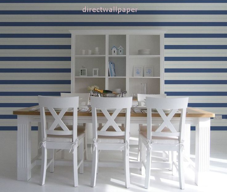 Blue And White Striped Wallpaper Uk