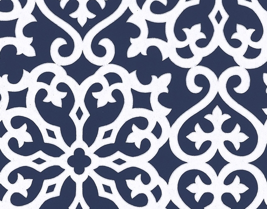 Blue And White Trellis Wallpaper