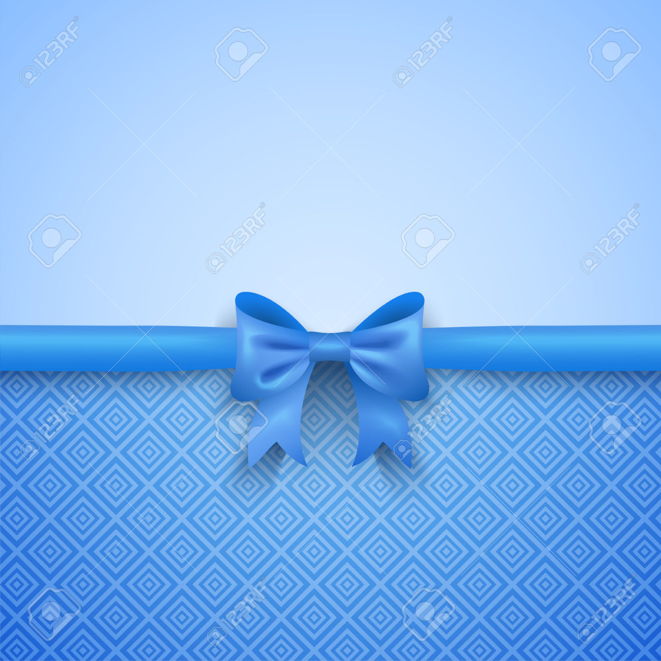 Blue Bow Wallpaper