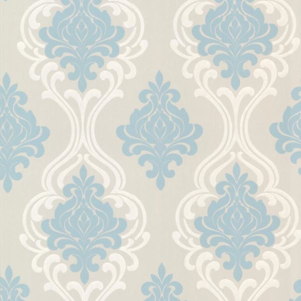 Blue Damask Wallpaper