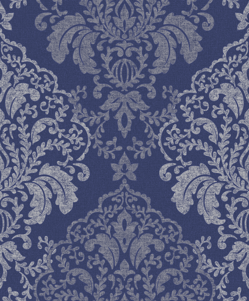 Blue Damask Wallpaper Uk