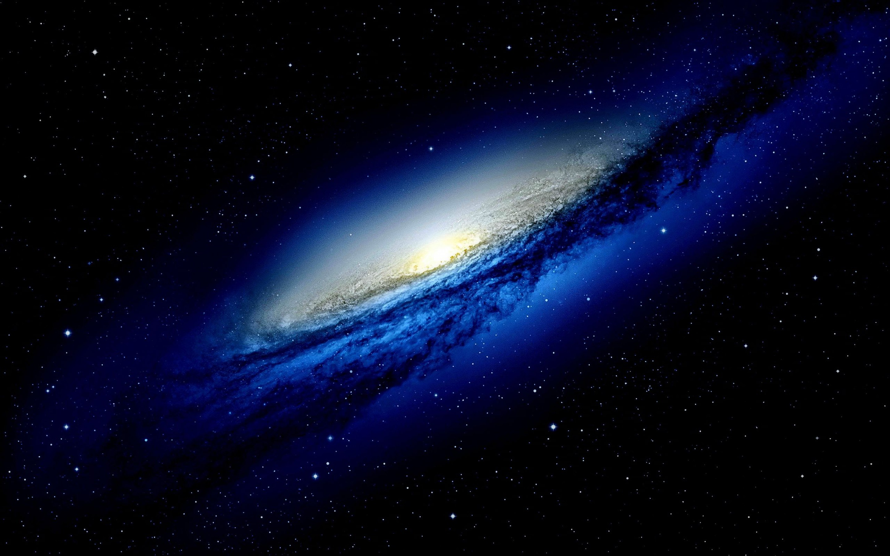 Blue Galaxy HD Wallpaper