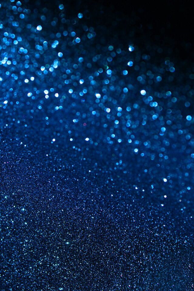 Blue Glitter Wallpaper