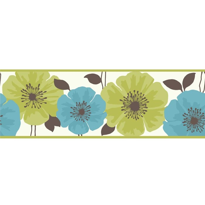 Blue Green Wallpaper Border