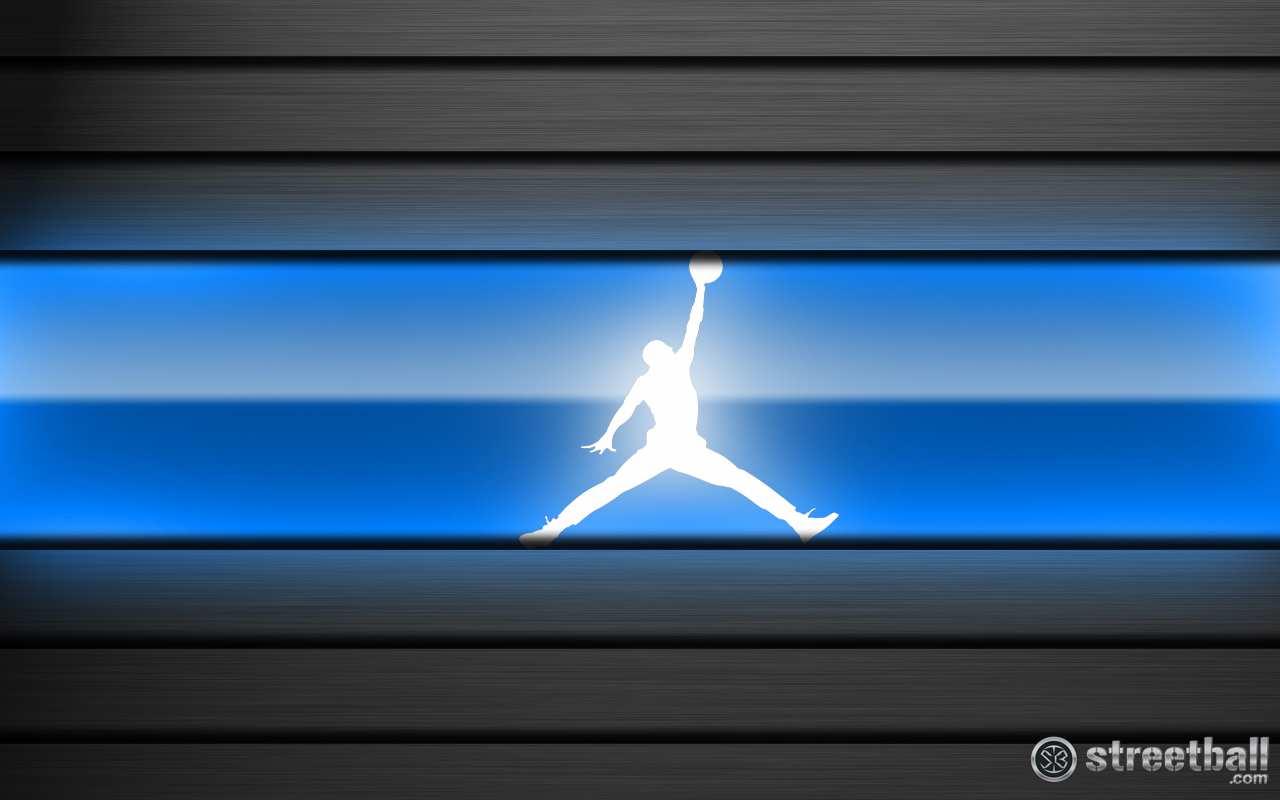 Blue Jordan Logo Wallpaper