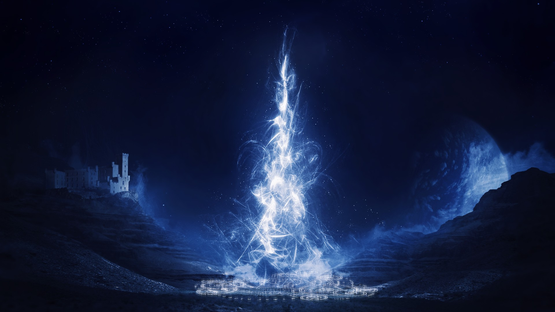 Blue Magic Wallpaper