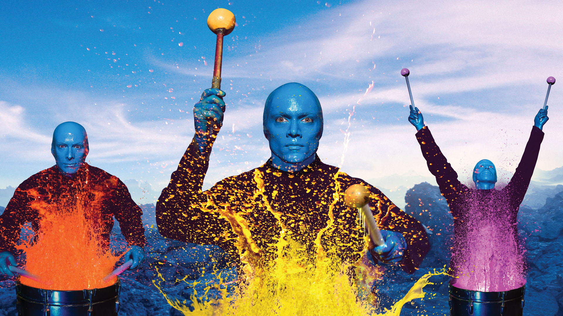 Blue Man Group Wallpaper