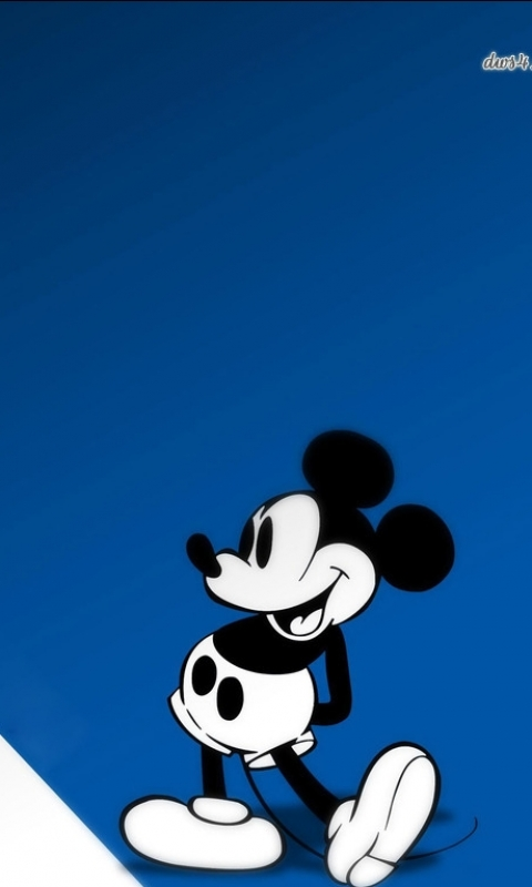Blue Mickey Mouse Wallpaper
