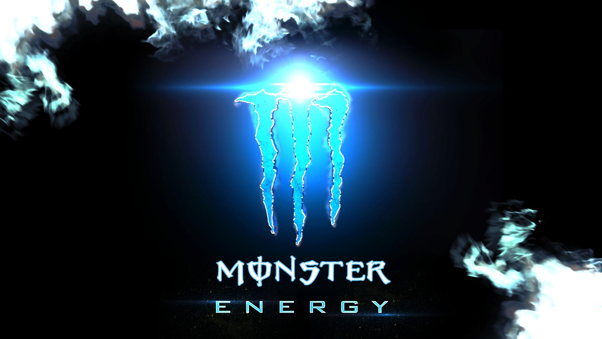Blue Monster Energy Wallpaper
