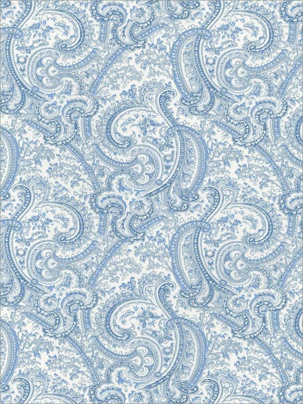 Blue Paisley Wallpaper