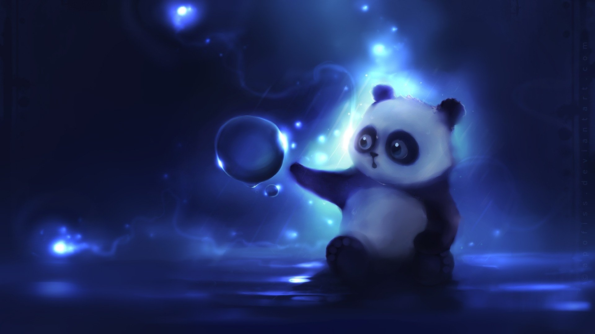 Blue Panda Wallpaper