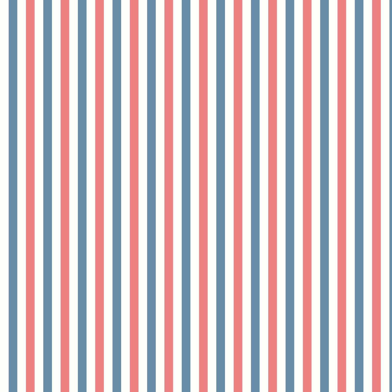 Blue Red And White Striped Wallpaper