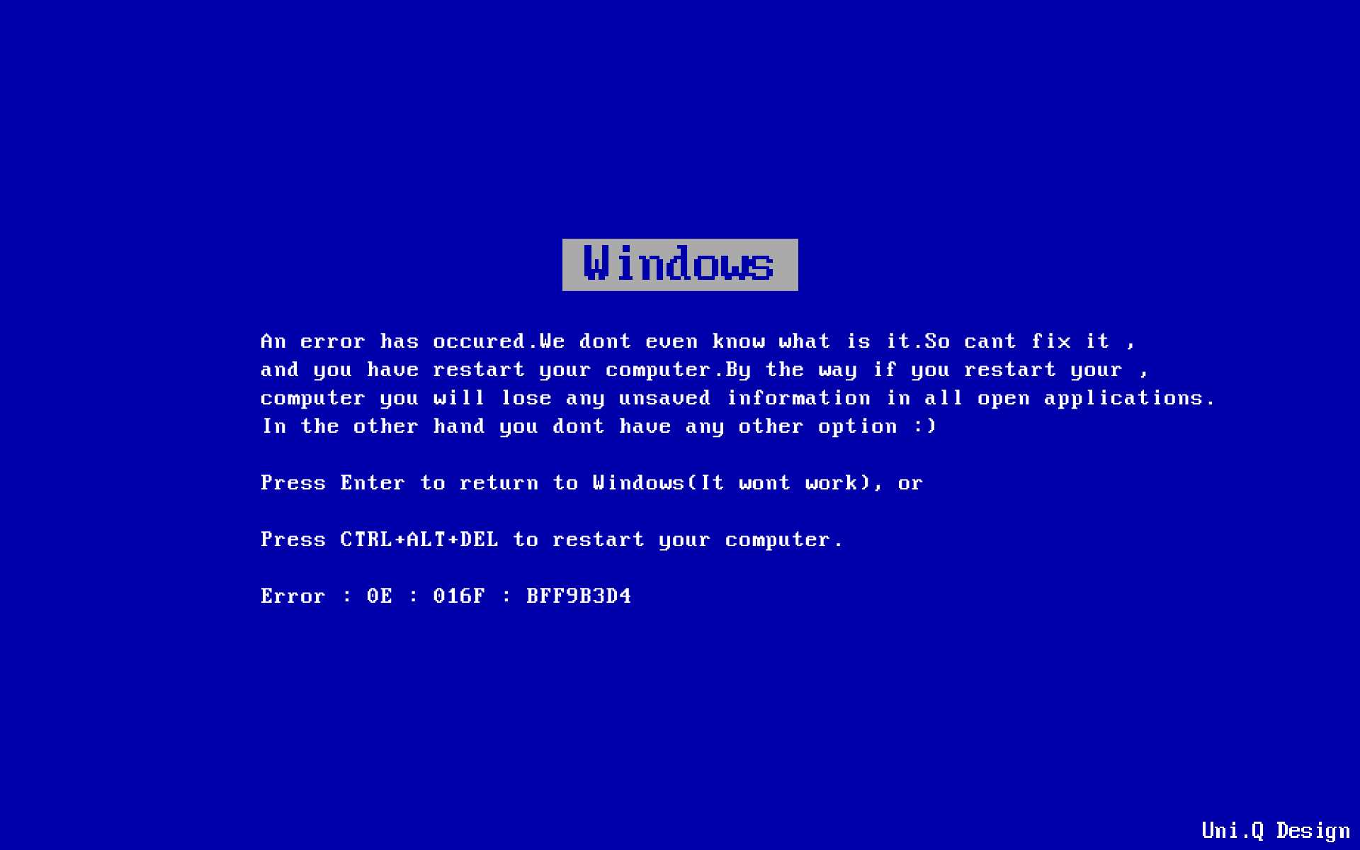 Blue Screen Of Death Wallpaper