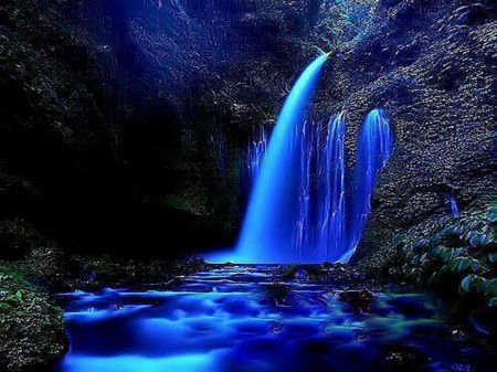 Download Blue Waterfall Wallpaper Gallery