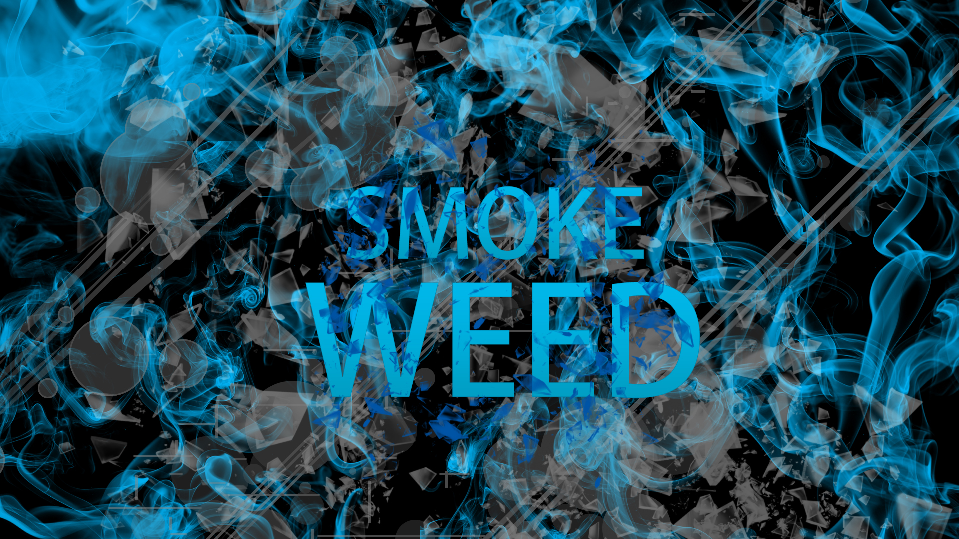 Blue Weed Wallpaper