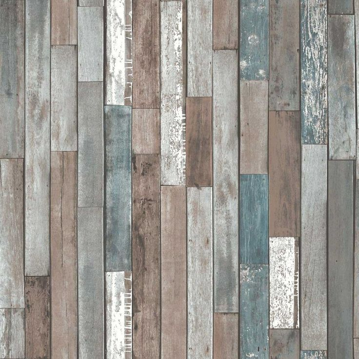 Blue Wood Effect Wallpaper