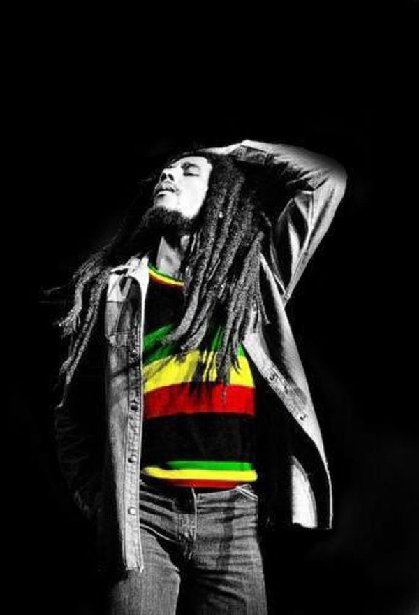 Group Of Bob Marley Colors Wallpaper
