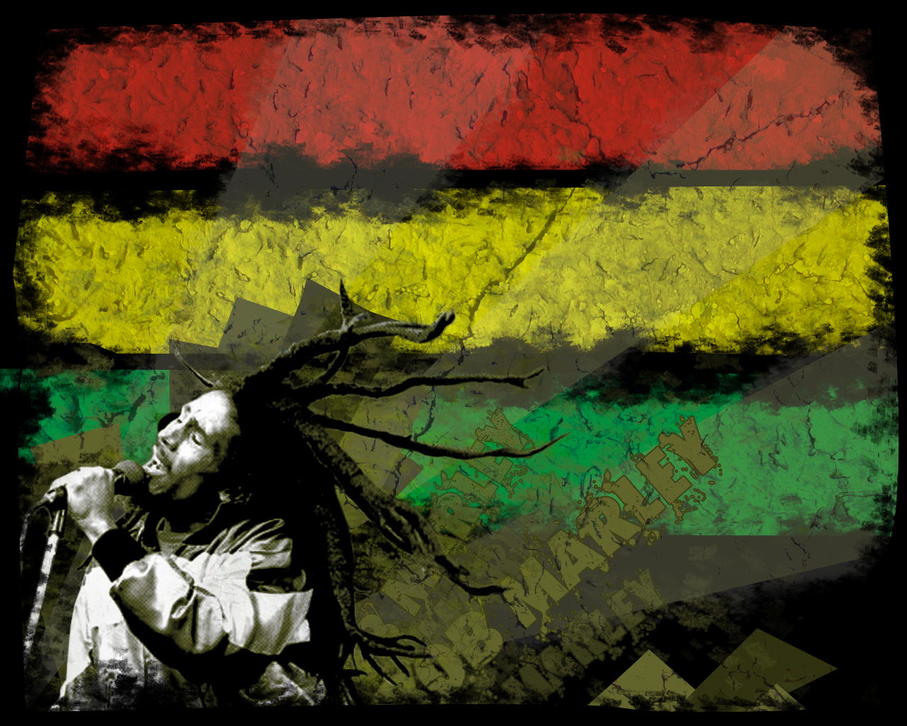 Bob Marley Colors Wallpaper