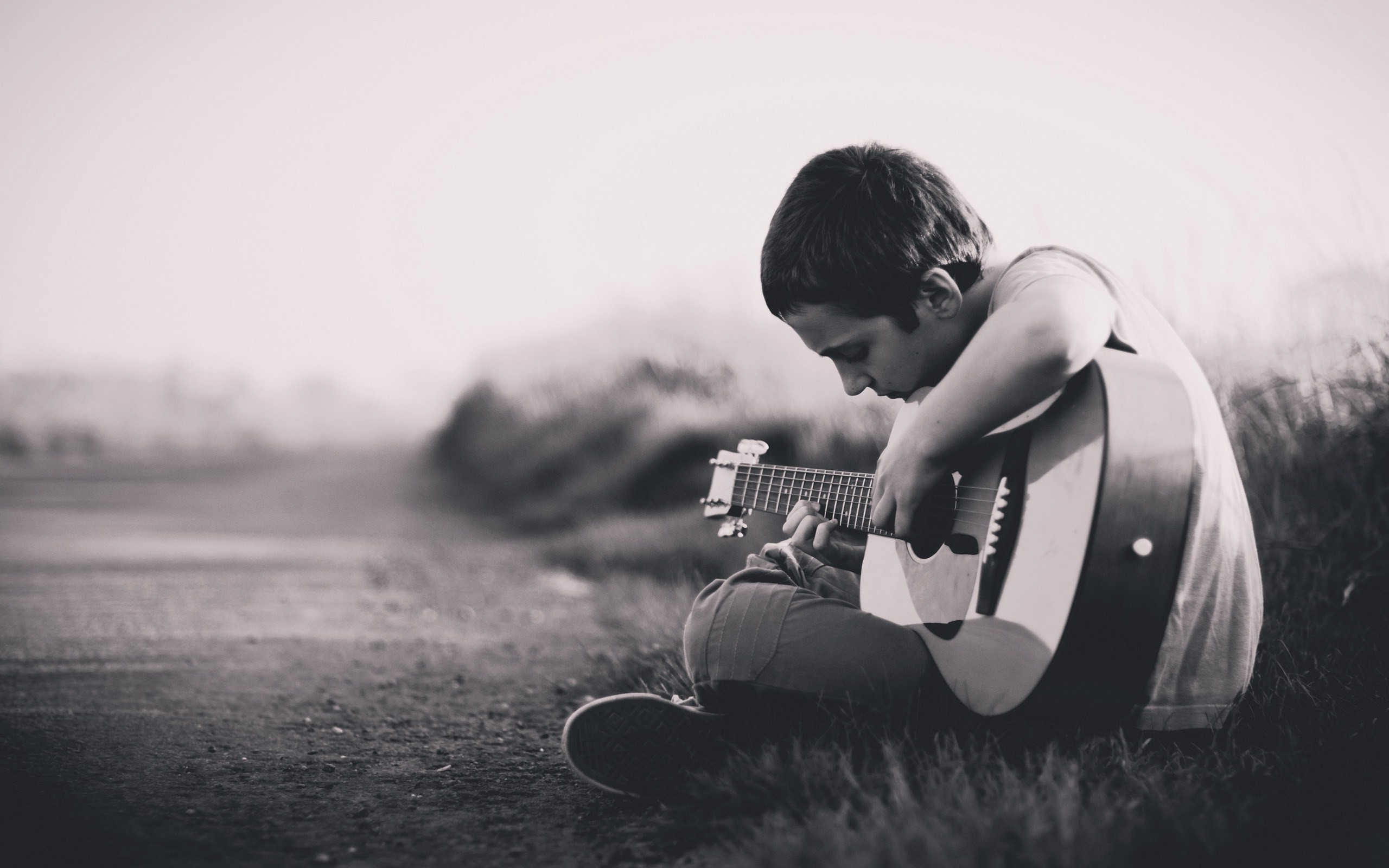 Sad Love Wallpapers Pics And Love Wallpapers Hd: Download Boy With Guitar HD Wallpaper Gallery